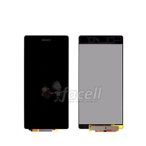 Touch + LCD (Frontal) Sony Xperia Z2 D6502 / D6503 / D6543 Preto -  1ª Linha