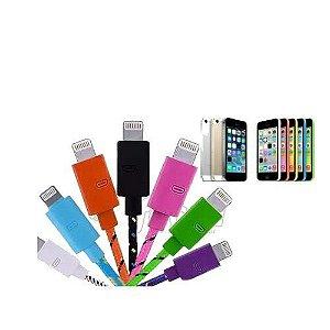 CABO USB IPHONE 5-5S-5C COLORIDO - 2 METROS