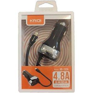 Carregador Veicular Kaidi 4.8 - Kd 132