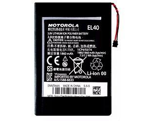 Bateria Moto E - El40 C/ Cartela