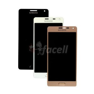 Touch + LCD (Frontal) Samsung Galaxy A5 A500 Regula Brilho - Preto