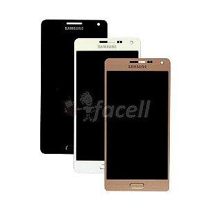 Touch + LCD (Frontal) Samsung Galaxy A5 A500 Regula Brilho - Dourado