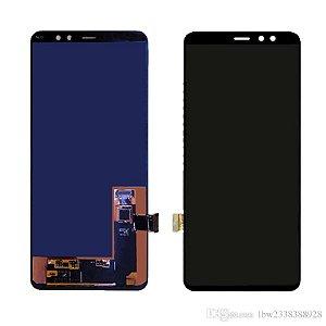 Frontal Samsung A8 Plus/A730 - Oled Preto S/Aro