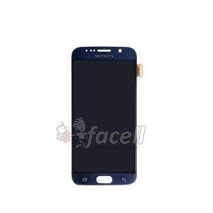 Touch + LCD (Frontal) Samsung S6 SM-G920 Preto / Azul Escuro
