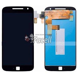 Touch + LCD (Frontal) Moto G4 Plus XT1640 / XT1644 - Preto - C/Aro  Original