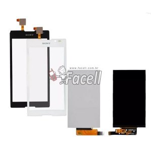 Kit Tela Touch + LCD Xperia C C2304 / C2305