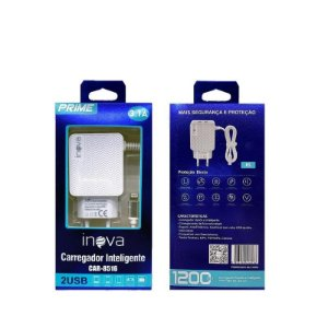 Carregador Celular Turbo 3.1 Cabo 2 Usb Iphone 7S X 8 Inova Prime