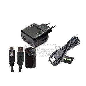 Carregador V8 Motorola 850 MAH Fonte USB Original Preto