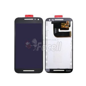 Touch + LCD (Frontal) Motorola Moto G3 1543 / 1544 Preto - Original