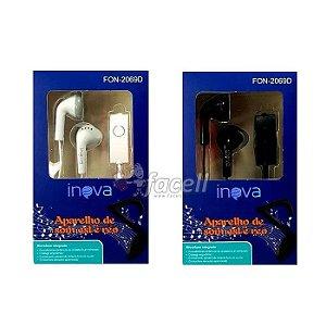 Fone de Ouvido Inova com Microfone 2069D Escolha a Cor: