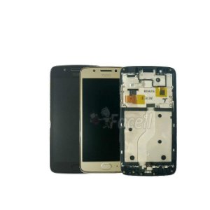 Display Frontal Moto G5 XT1672 Original com Aro e Touch ID - Escolha Cor