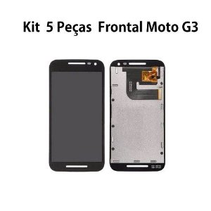 Kit Frontal Moto G3 XT1543 XT1544 1 Linha 5 Peças