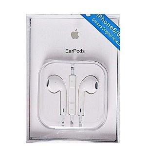 Fone de ouvido EarPods para iphone caixa acrilica branco