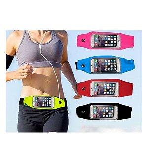 Pochete Fitness Corrida Porta Celular Até 5,5 Impermeavel