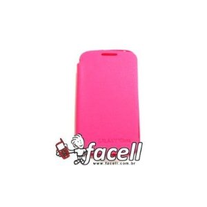 FLIP CASE COM TAMPA GALAXY DUOS S6102 PINK