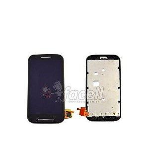 Touch + LCD (Frontal) Motorola Moto E 1022 / 1025 S/Aro - Preto