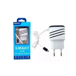 Carregador De Celular Smart 3.1a Rápido Usb Bivolt 2 Entradas