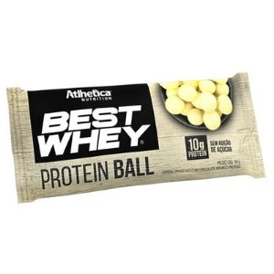 Best Whey Protein Ball Chocolate Branco 50g - Atlhetica Nutrition