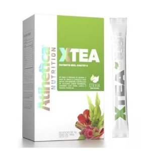 Xtea - 20 Sticks - Atlhetica Nutrition - Stevia 100% Natural