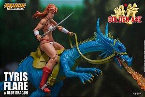 Tyris Flare e Blue Dragon Golden Axe Storm Collectibles Original