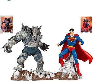 Superman & Devastador Batman: Terra um DC Multiverse McFarlane Toys Original