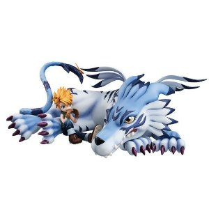 Matt & Garurumon Digimon Adventure G.E.M. Series Megahouse original ENCOMENDA
