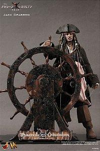 Jack Sparrow Piratas do Caribe Navegando em Águas Misteriosas Movie Masterpiece Deluxe Hot Toys Original