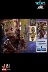 [ENCOMENDA] Baby Groot Life-size Guardians of the Galaxy 2 Hot Toys Original