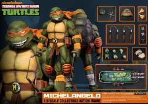 Michelangelo Teenage Mutant Ninja Turtles 1/6 Dreamex Nickelodeon Original