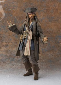 Captain Jack Sparrow Pirates of the Caribbean: Dead men tell no tales S.H. Figuarts Bandai Original