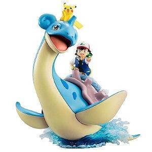 [PRE-VENDA] Ash e Lapras e Pikachu Pokemon G.E.M. Series Megahouse Original
