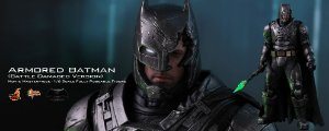 Batman Armored Battle Damage Edition Batman vs Superman Dawn of Justice Movie Masterpiece Hot Toys Original