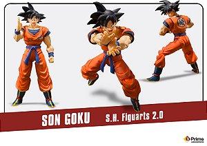 [PRE-VENDA] Son Goku versão 2.0 Dragon Ball Z S.H. Figuarts Bandai Original