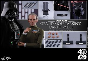 Grand Moff Tarkin & Darth Vader Star Wars Episode IV A New Hope Movie Masterpiece Hot Toys original