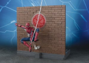 Spider-man Homecoming & Tamashii Option Act Wall set S.H.Figuarts Bandai Original