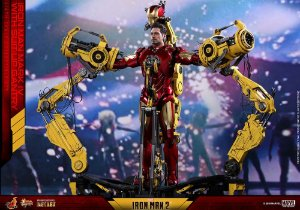 Iron Man Mark IV Diecast with Suit-up Gantry Iron Man 2 Movie Masterpiece Hot toys Original
