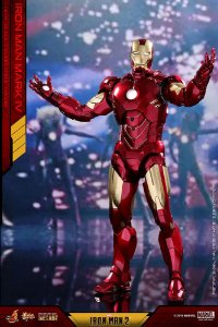 Iron Man Mark IV Diecast Iron Man 2 Movie Masterpiece Hot toys Original