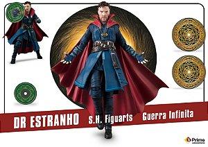 Doutor Estranho Vingadores Guerra infinita Marvel S.H. Figuarts Bandai Original