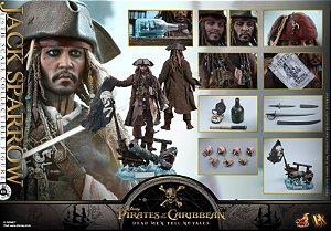 Jack Sparrow Piratas do Caribe A vingança de Salazar Dx15 Hot Toys original