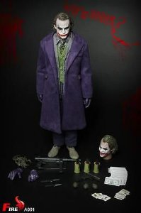 Joker Batman The Dark Knight escala 1:6 Fire