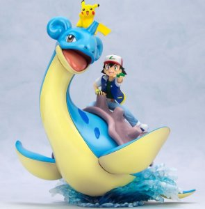 Ash e Lapras e Pikachu Pokemon G.E.M. Series Megahouse Original