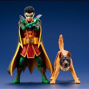 Robin & Bat-Hound DC Comics Rebirth Super Sons ARTFX+ Kotobukiya Original