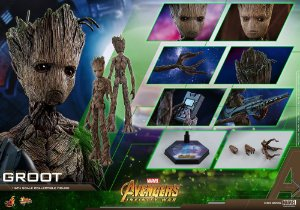 Groot Jovem Vingadores Guerra Infinita Movie Masterpieces Hot Toys