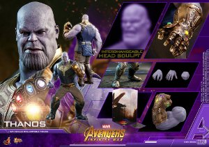 Thanos Vingadores Guerra infinita Marvel Movie Masterpieces Hot Toys Original