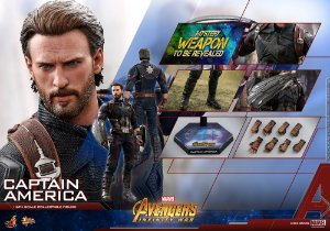 Capitão America Vingadores Guerra infinita Marvel Comics Movie Masterpieces Hot Toys Original