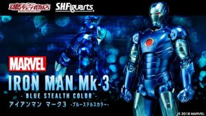 [Exclusivo SDCC 2018] Homem de Ferro Mark 3 Blue Stealth Color S.H. Figuarts Bandai Original