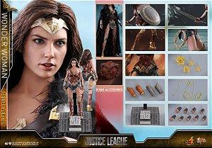 Mulher Maravilha Deluxe Edition Liga da Justiça DC Comics Movie Masterpiece Hot Toys Original