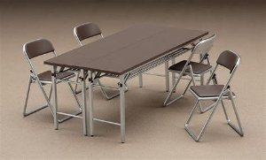 Mesa e cadeiras 1/12 Hasegawa Hobby Kits Original