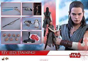 Rey versão de Treinamento Jedi Star Wars o ultimo de Jedi Hot Toys Original