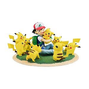 Ash Ketchum & muitos Pikachus Pokemon G.E.M. Series Megahouse Original